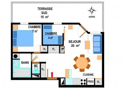 Location au ski Appartement 3 pièces 6 personnes (A64) - Résidence le Bonheur des Pistes - Val Cenis