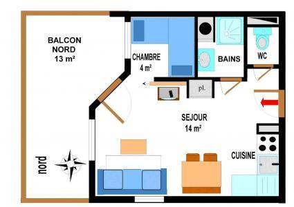 Location au ski Appartement 2 pièces 4 personnes (B07) - Résidence le Bonheur des Pistes - Val Cenis