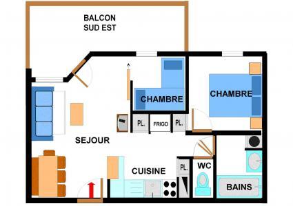 Location au ski Appartement 3 pièces 6 personnes (B47) - Résidence le Bonheur des Pistes - Val Cenis
