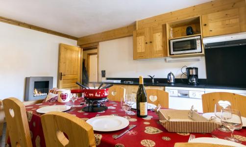 Аренда на лыжном курорте Апартаменты 4 комнат 6 чел. - Résidence le Critérium - Val Cenis - Столова&