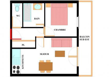 Location au ski Appartement 2 pièces 4 personnes (A201) - Résidence les Alpages - Val Cenis