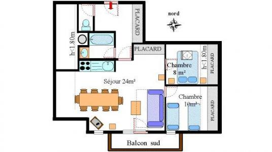 Location au ski Appartement 3 pièces 7 personnes (28) - Residence Les Essarts - Val Cenis