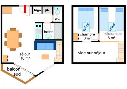 Location au ski Appartement 2 pièces coin montagne 6 personnes (218) - Residence Les Hauts De Val Cenis - Val Cenis