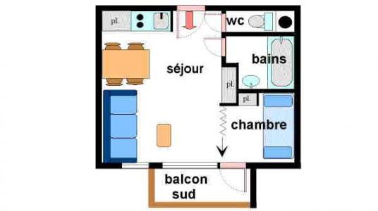 Location au ski Appartement 2 pièces 4 personnes (010) - Residence Sainte Anne - Val Cenis