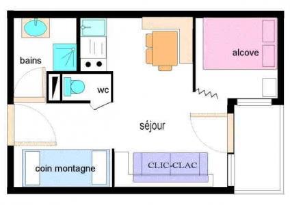 Soggiorno sugli sci Appartamento 2 stanze con alcova per 4 persone (013) - Résidence Triade - Val Cenis - Mappa