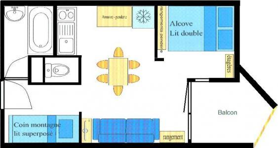 Soggiorno sugli sci Studio con alcova per 4 persone (022) - Résidence Triade - Val Cenis - Mappa