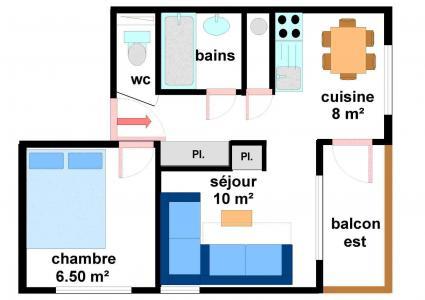 Location au ski Appartement 2 pièces 5 personnes (27) - Residences Du Quartier Napoleon - Val Cenis