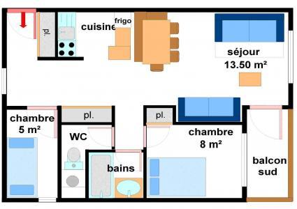 Location au ski Appartement 3 pièces 7 personnes (AR21) - Résidences du Quartier Napoléon - Val Cenis - Plan