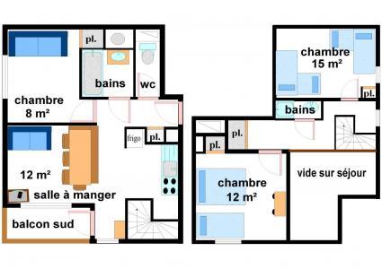 Location au ski Appartement duplex 4 pièces 8 personnes (CA22) - Residences Du Quartier Napoleon - Val Cenis