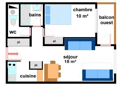Location au ski Appartement 2 pièces 5 personnes (BO14) - Résidences du Quartier Napoléon - Val Cenis