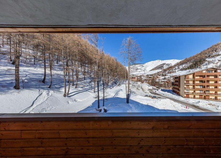 Ski verhuur Les Terrasses de Labrau - Val d'Allos - Balkon
