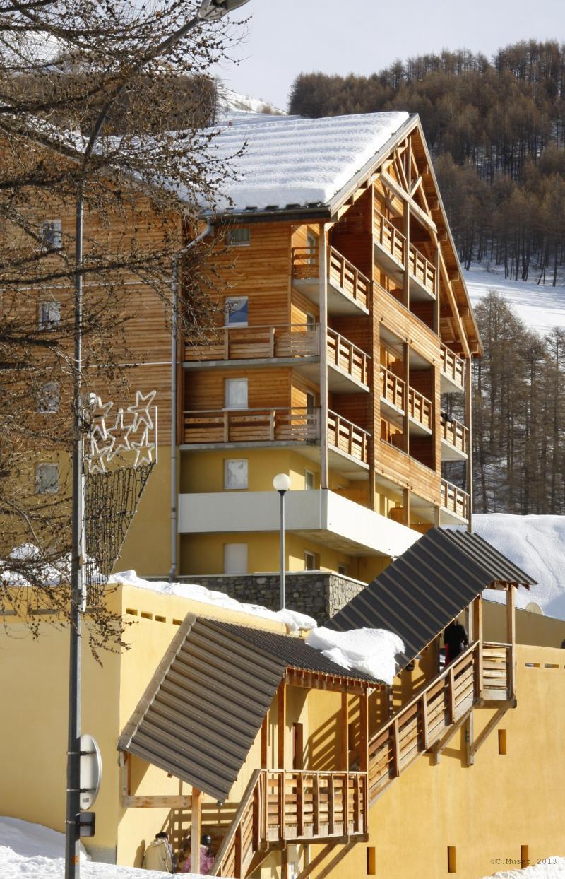 Vacances en montagne Residence Les Cimes Du Val D'allos - Val d'Allos - Extérieur hiver
