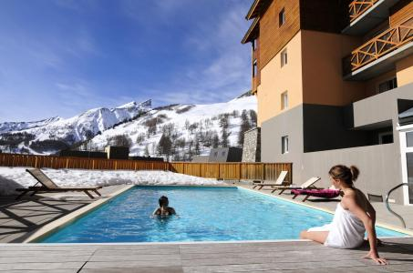 Location au ski Les Balcons Du Soleil - Val d'Allos - Extérieur hiver