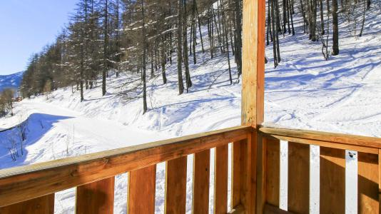 Rent in ski resort Résidence Central Park - Val d'Allos - Balcony