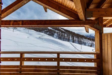Rent in ski resort Résidence les Cimes du Val d'Allos - Val d'Allos - Balcony
