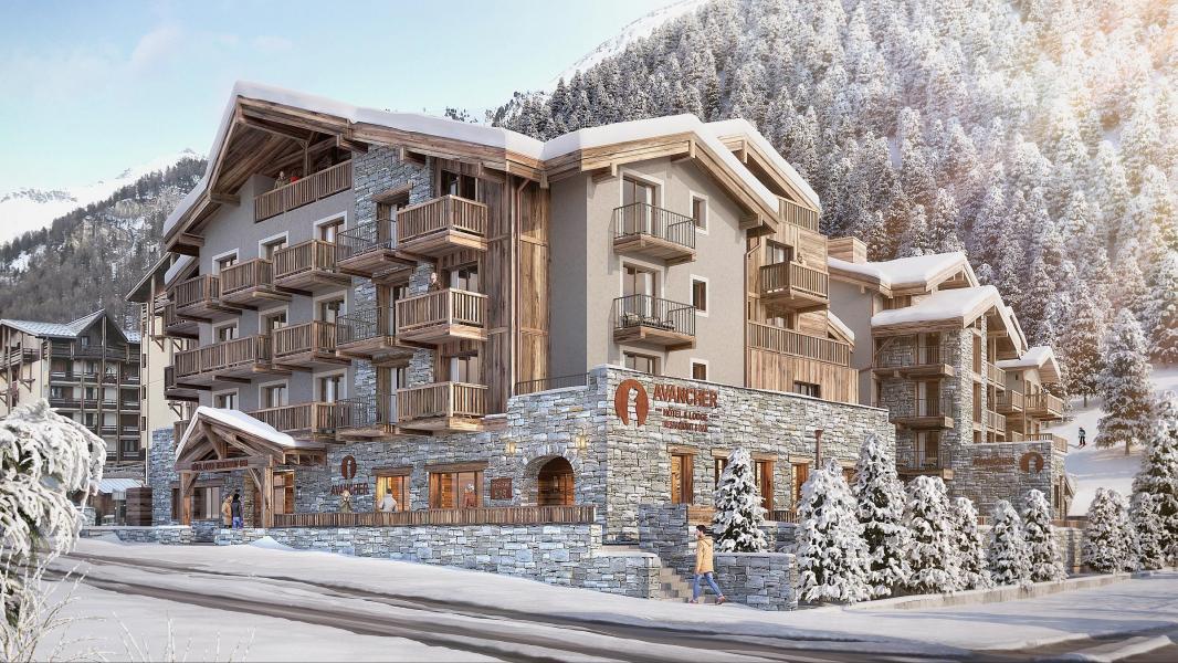 Аренда на лыжном курорте Avancher Hôtel & Lodge - Val d'Isère - зимой под открытым небом