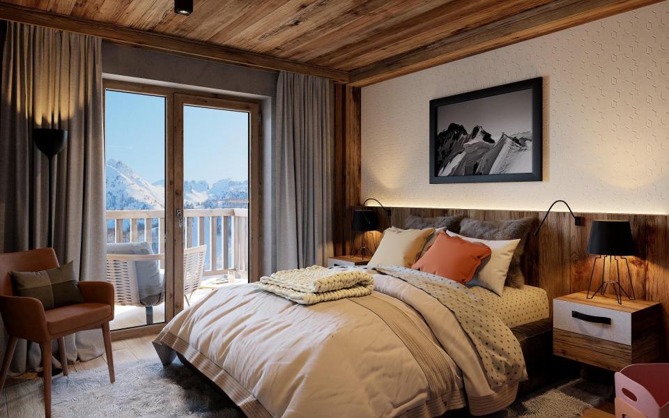 Аренда на лыжном курорте Avancher Hôtel & Lodge - Val d'Isère - Двухспальная кровать