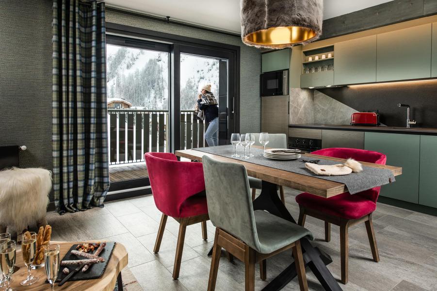 Skiverleih 3-Zimmer-Appartment für 4 Personen - Chalet Izia - Val d'Isère - Essbereich
