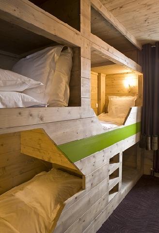 Location au ski Hôtel Ormelune - Val d'Isère - Lits superposés