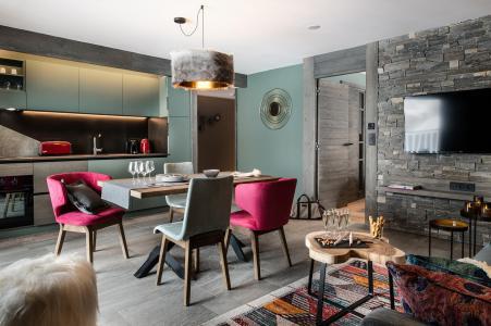 Rent in ski resort 3 room apartment 4 people - Chalet Izia - Val d'Isère - Living room