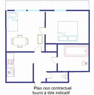 Rent in ski resort 2 room apartment 4 people (19) - Résidence le Rond-Point des Pistes III - Val d'Isère - Plan