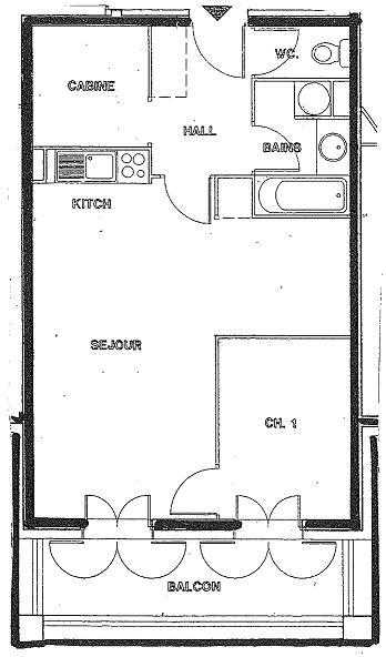 Location au ski Appartement 3 pièces cabine 6 personnes (02) - Chalet Les Trolles - Val Thorens - Plan