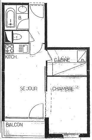 Location au ski Appartement 2 pièces 4 personnes (403) - La Residence L'arcelle - Val Thorens - Plan