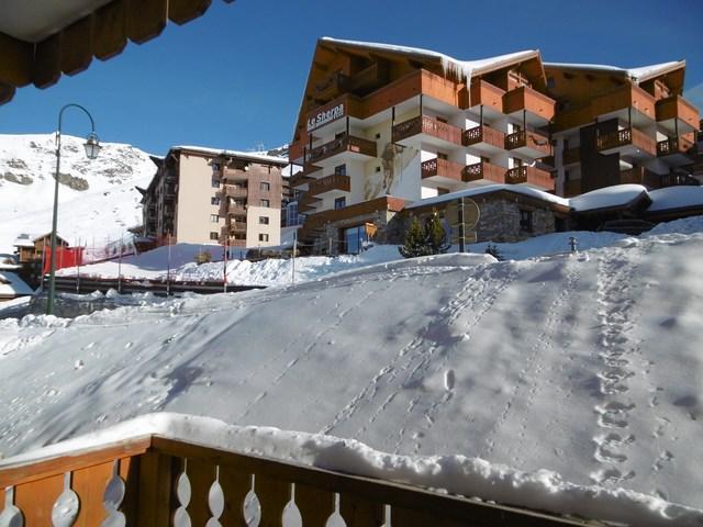 Location au ski Studio 4 personnes (113) - La Residence Les Neves - Val Thorens - Extérieur hiver