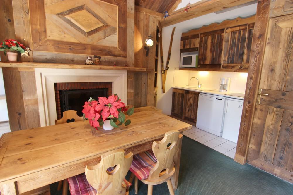 Location au ski Appartement 3 pièces 6 personnes (32) - Le Chalet Diamant - Val Thorens - Table