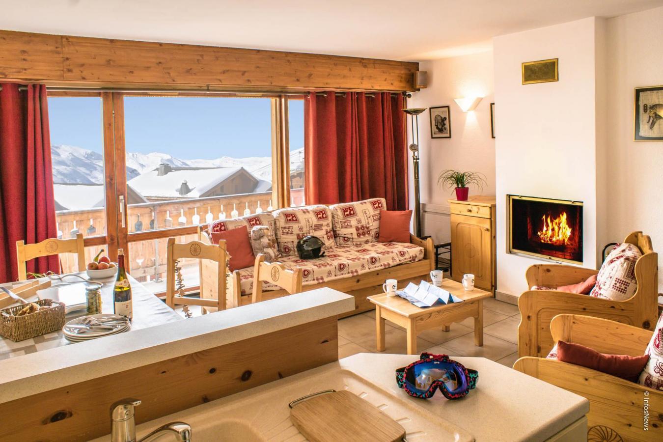 Location au ski Appartement 3 pièces 6 personnes (8) - Residence Beau Soleil - Val Thorens - Séjour