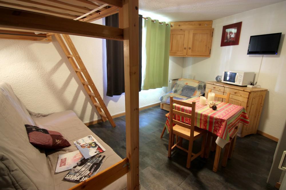 Location au ski Studio 2 personnes (2703) - Residence Cimes De Caron - Val Thorens - Séjour