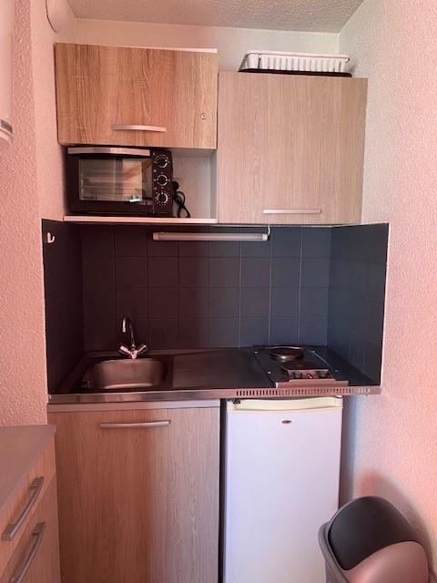 Location au ski Studio 3 personnes (2604) - Residence Cimes De Caron - Val Thorens - Kitchenette