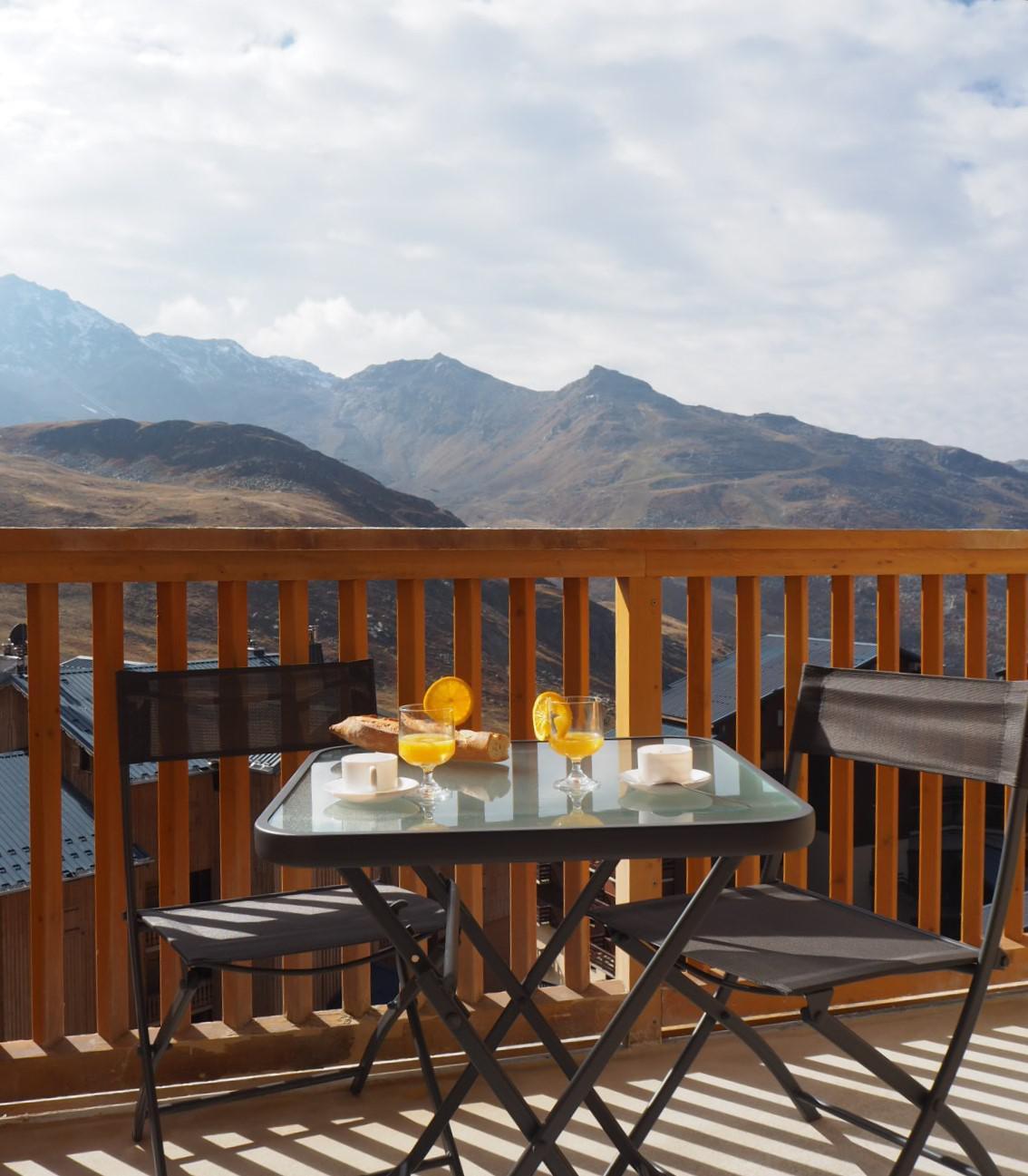 Location au ski Studio 3 personnes (2604) - Residence Cimes De Caron - Val Thorens - Tv à écran plat