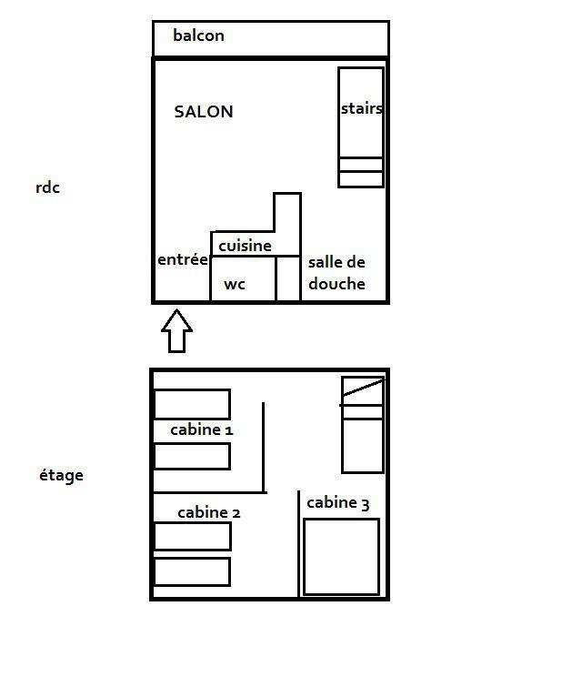 Location au ski Appartement 3 pièces 6 personnes (715) - Residence De L'altineige - Val Thorens - Table