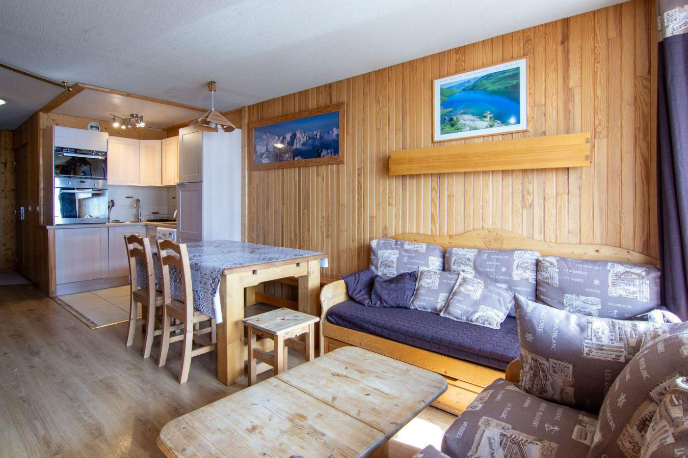 Location au ski Appartement 3 pièces cabine 6 personnes (B22) - Residence Hauts De Chaviere - Val Thorens - Chambre