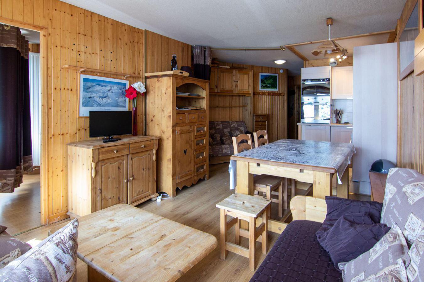 Location au ski Appartement 3 pièces cabine 6 personnes (B22) - Residence Hauts De Chaviere - Val Thorens - Séjour