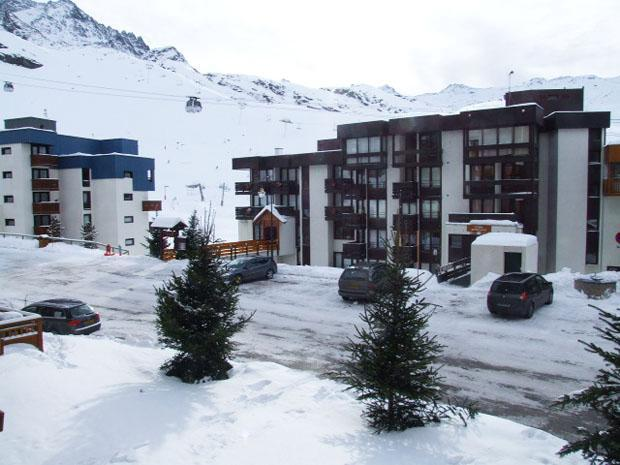 Location au ski Studio 2 personnes (3) - Residence Hauts De Chaviere - Val Thorens - Extérieur hiver