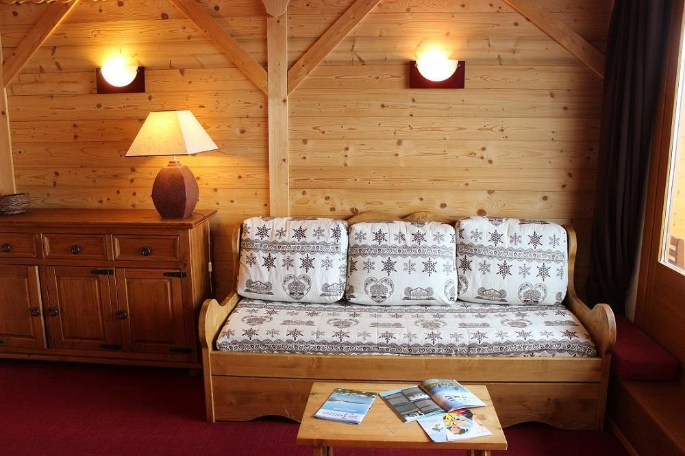 Location au ski Studio coin montagne 4 personnes (503) - Residence Le Lac Blanc - Val Thorens - Canapé-gigogne