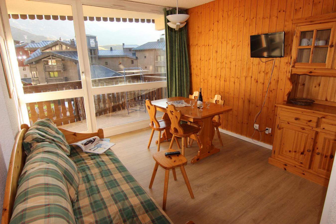 Location au ski Studio 4 personnes (110) - Residence Le Lac Du Lou - Val Thorens - Séjour