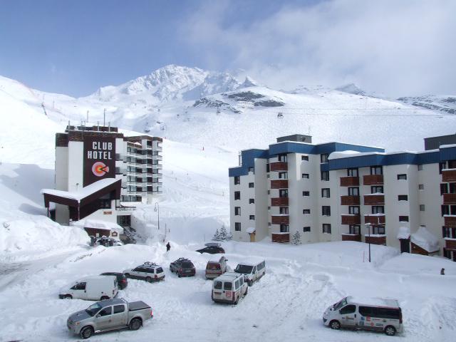 Location au ski Appartement 2 pièces cabine 6 personnes (12) - Residence Le Schuss - Val Thorens - Extérieur hiver