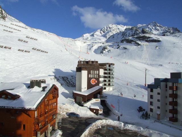 Location au ski Studio cabine 4 personnes (510) - Residence Le Schuss - Val Thorens - Extérieur hiver