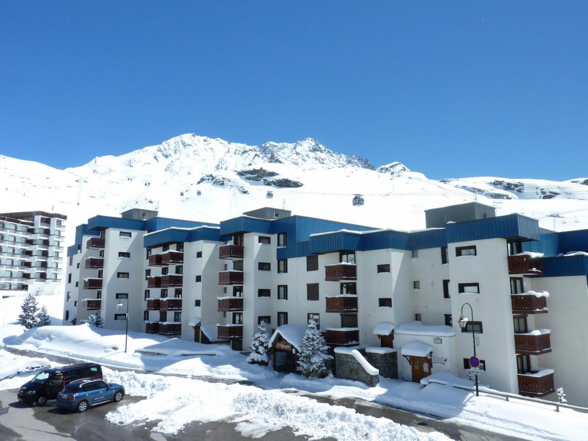 Location au ski Studio 5 personnes (102) - Residence Le Schuss - Val Thorens - Extérieur hiver