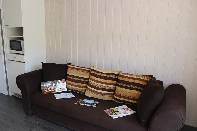 Location au ski Studio 5 personnes (102) - Residence Le Schuss - Val Thorens - Canapé