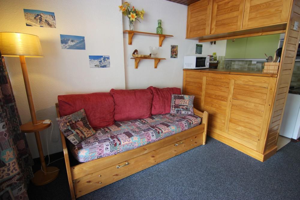 Location au ski Studio cabine 4 personnes (510) - Residence Le Schuss - Val Thorens - Canapé