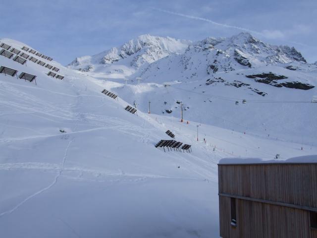 Location au ski Studio 2 personnes (B9) - Residence Le Serac - Val Thorens - Extérieur hiver