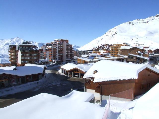 Location au ski Studio 3 personnes (E5) - Residence Le Serac - Val Thorens - Extérieur hiver
