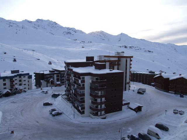 Location au ski Studio 3 personnes (S7) - Residence Le Serac - Val Thorens - Extérieur hiver