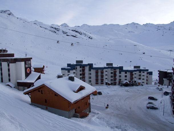 Location au ski Studio 3 personnes (O6) - Residence Le Serac - Val Thorens - Extérieur hiver