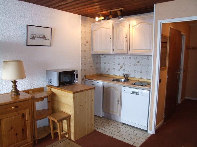 Location au ski Studio 3 personnes (E5) - Residence Le Serac - Val Thorens - Kitchenette