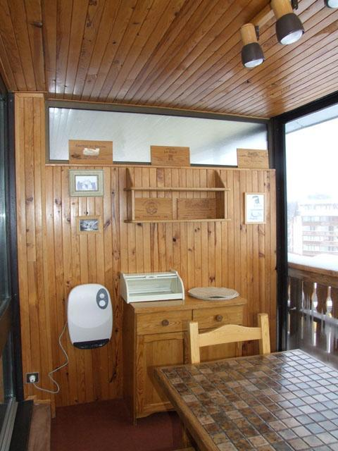 Location au ski Studio 3 personnes (E5) - Residence Le Serac - Val Thorens - Séjour
